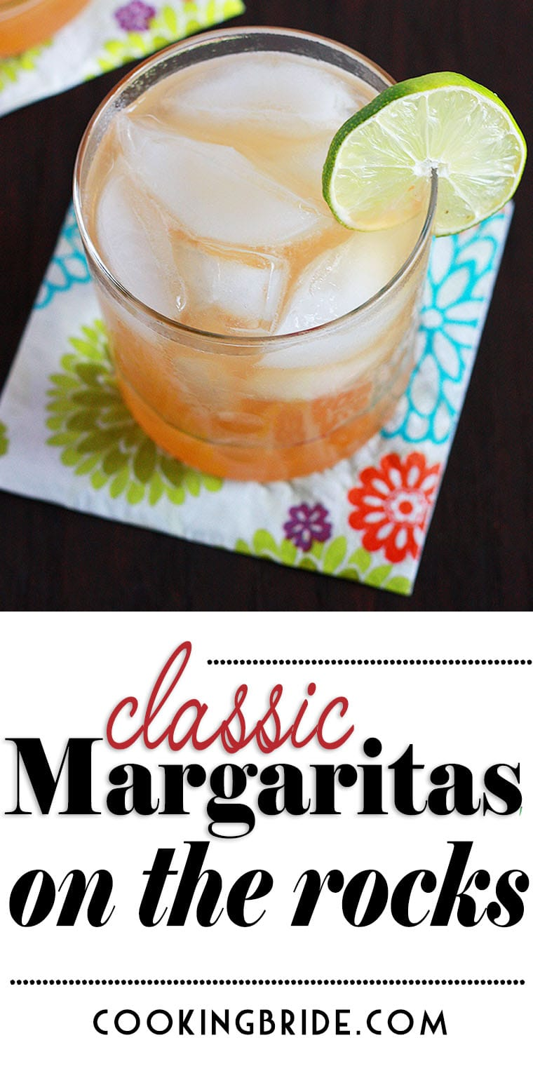 This classic margarita recipe on the rocks combines freshly squeezed lime juice, tequila and a splash of orange liqueur. It's the best margarita you'll wrap your lips around.