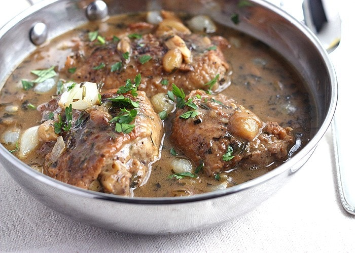 Chicken Thighs with Tarragon and White Wine