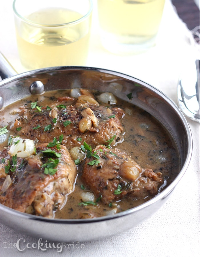 Chicken with Tarragon and White Wine 024 WM
