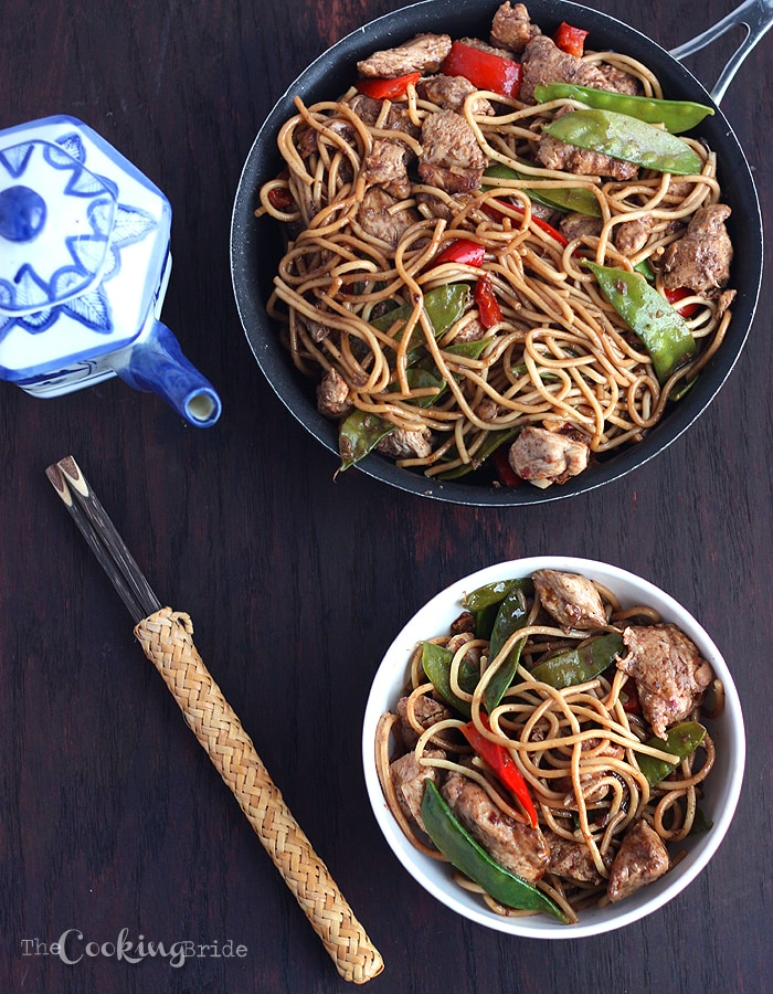 Chicken chow mein the cooking bride try this easy chicken chow mein recipe with chicken breasts seasoned with asian spices then tossed forumfinder Image collections