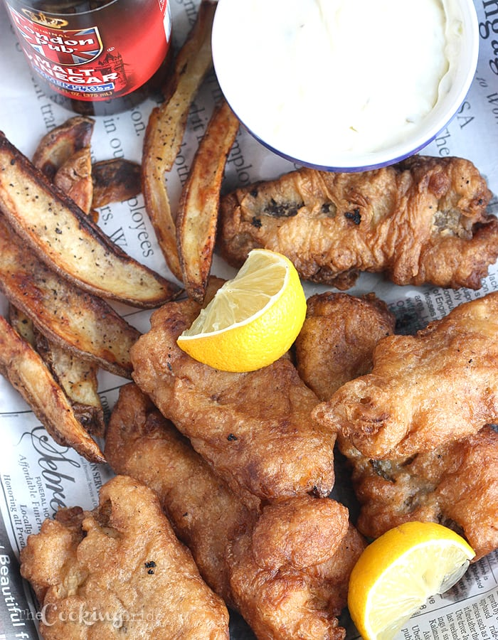 You are sure to love this beer battered homemade fish and chips recipe. The crust is flaky every time. Serve with oven baked French fries.