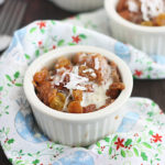 Piña Colada Pineapple Bread Pudding with Rum Sauce