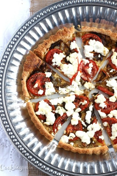 Goat Cheese and Tomato Tart - CookingBride.com
