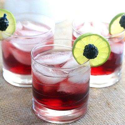 Blackberry Limeade Spritzers