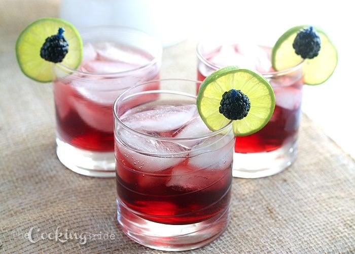 Blackberry Limeade Spritzers - CookingBride.com