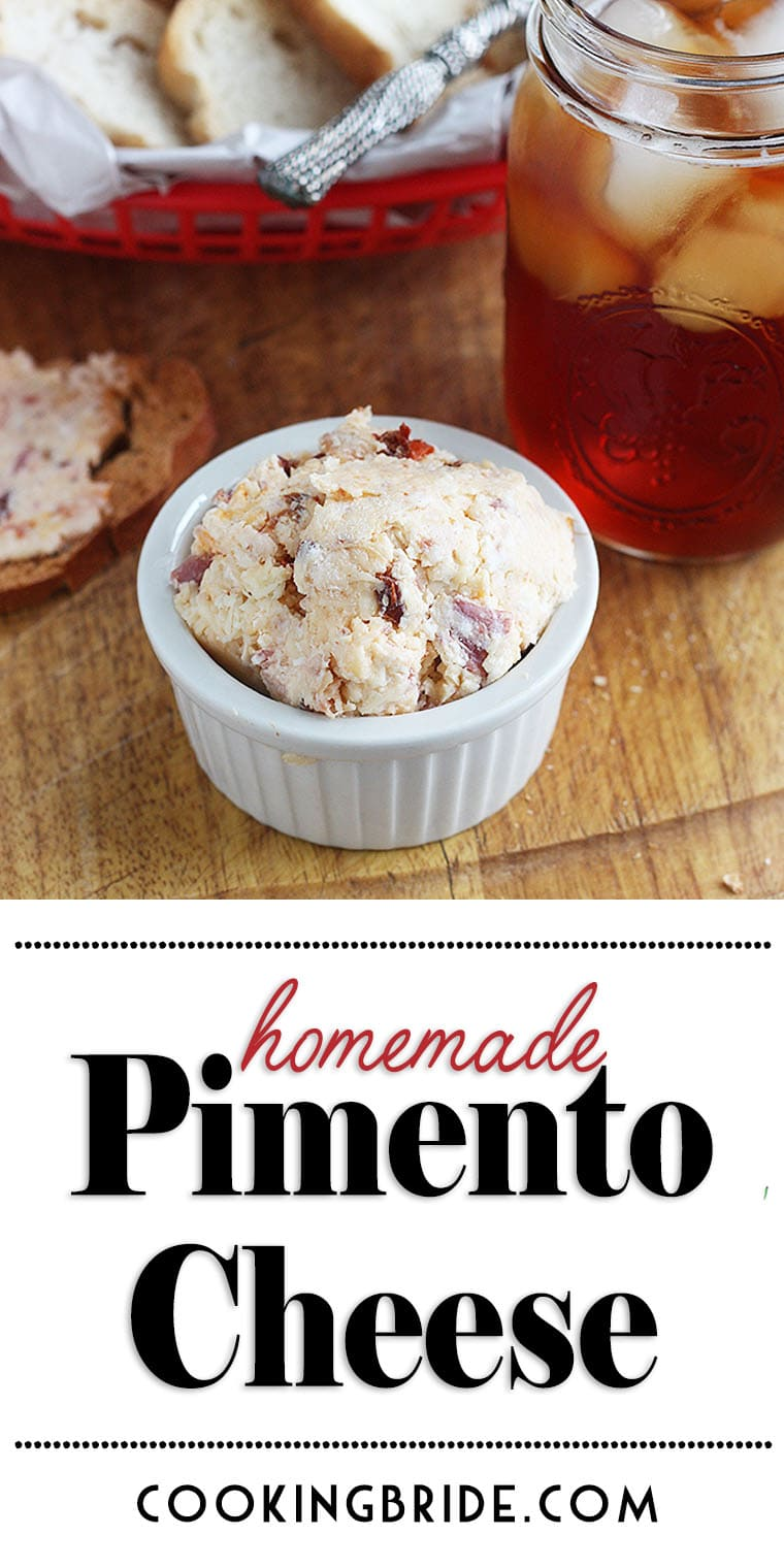 This yummy homemade pimento cheese spread combines smoked cheddar, chipotle peppers, and bacon. It's not your grandma's pimento cheese recipe.