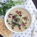 Creamy, homemade New England clam chowder recipe is loaded with briny clams and bacon. It's perfect for cold winter nights.