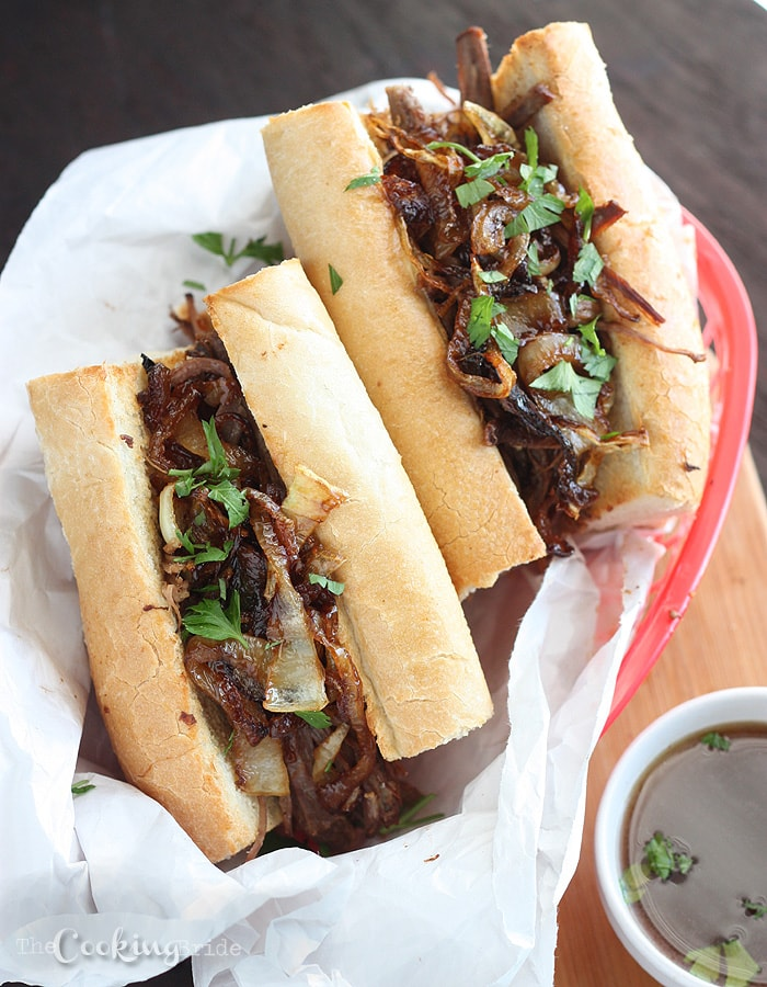 Slow Cooker French Dip Sandwiches - CookingBride.com
