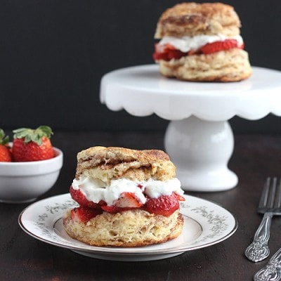 Strawberry Shortcakes with Cinnamon-Sugar Biscuits