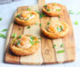 Spicy Shrimp on Fried Grit Cakes