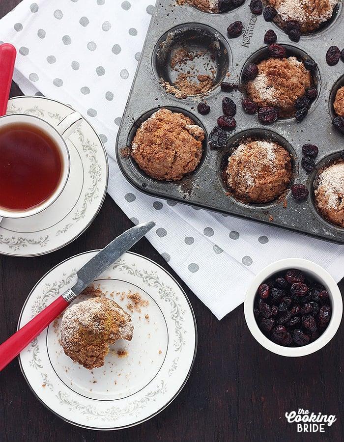Cranberry Eggnog Muffins - CookingBride.com