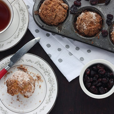 Eggnog Cranberry Muffins