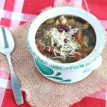 This easy minestrone soup recipe gets a Southern-style makeover with black eyed peas, red beans, collard greens and okra.