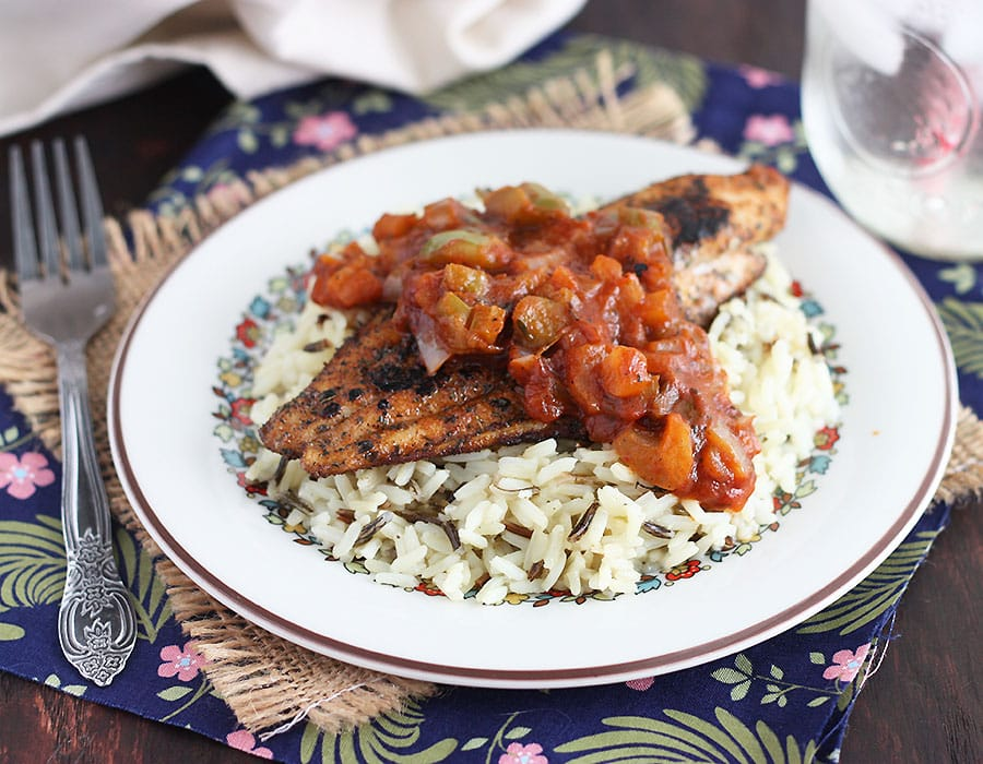 Blackened Catfish with Creole Sauce | The Cooking Bride