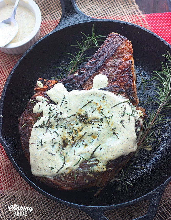 Rib Eye Steaks With Horseradish Mustard Sauce The Cooking Bride