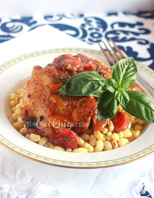 Roasted Chicken Thighs with Fennel and Tomatoes - The Cooking Bride ...