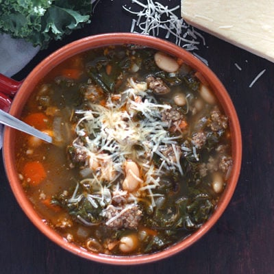 Cannellini Bean, Sausage and Kale Soup