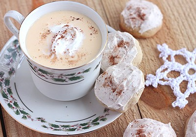 Eggnog Cookies with Buttercream Icing