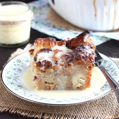 Cranberry White Chocolate Bread Pudding
