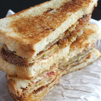 Pimento Cheese and Fried Green Tomato Sandwich