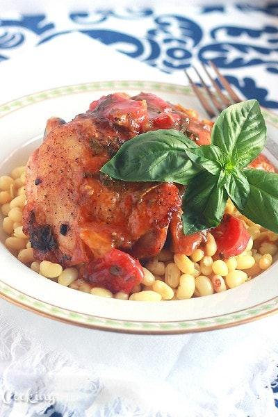 Roasted Chicken Thighs with Fennel and Tomatoes - CookingBride.com