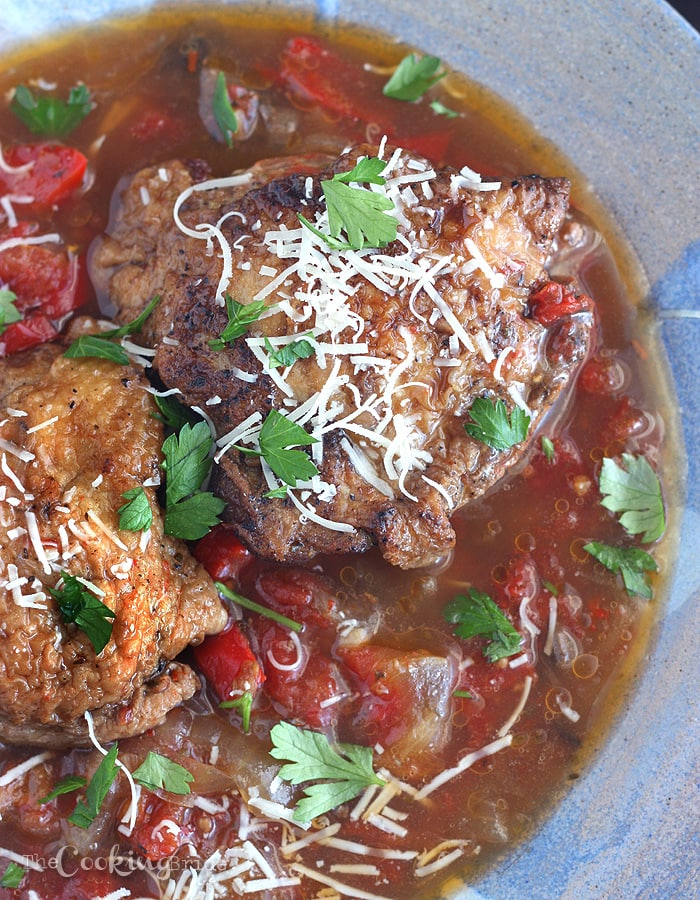 Slow Cooker Chicken Cacciatore - CookingBride.com