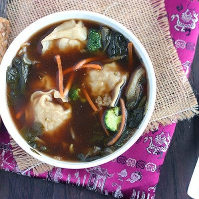Thai Garden Vegetable Chicken Wonton Soup