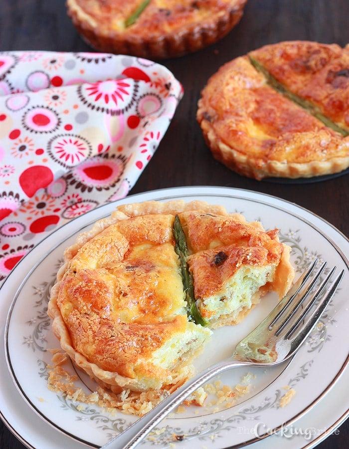 Asparagus, Bacon, and Pepper Jack Quiche - CookingBride.com