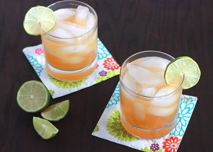 Authentic Lime Margaritas