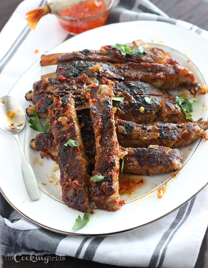 Ribs with Apricot Bourbon Sauce 088 WM