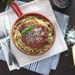 Looking for the perfect meat sauce for spaghetti? Look no further. This slowly simmered sauce is seasoned with fresh herbs and spices.