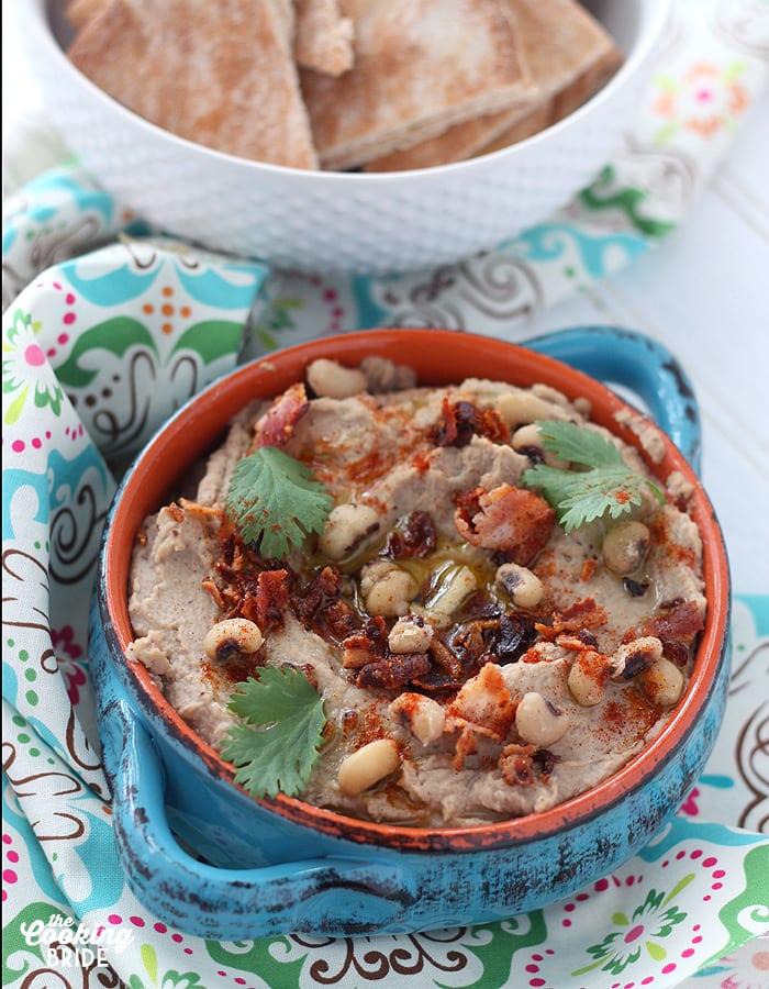 Bacon and Black Eyed Pea Hummus - CookingBride.com