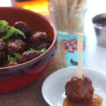 Chicken Meatballs with Apricot Bourbon Sauce - CookingBride.com