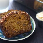 Pumpkin Bread with Golden Raisins and Hazelnuts