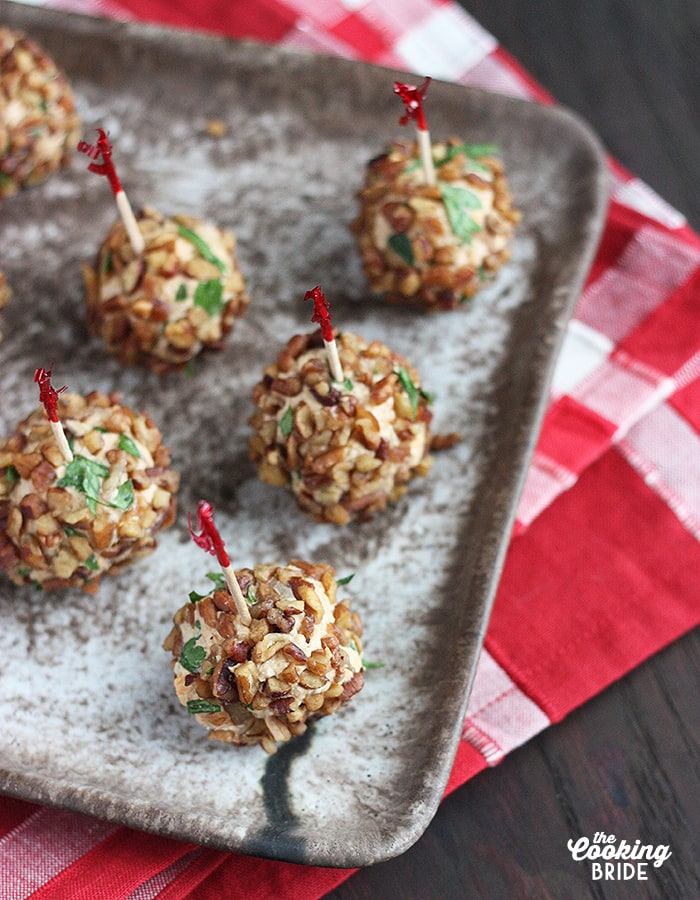 Mini brandy cheese balls are made with tangy cheese, soft cream cheese and Brandy for a little kick. Chopped pecans give added crunch.