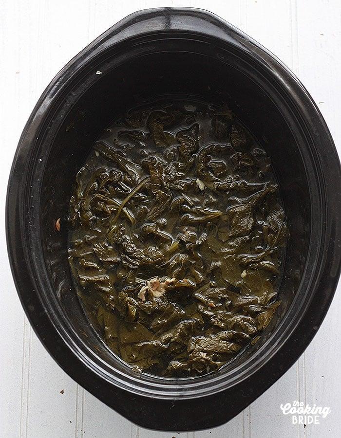 slow cooker collard greens