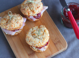 Cheddar Biscuit and Ham Sliders