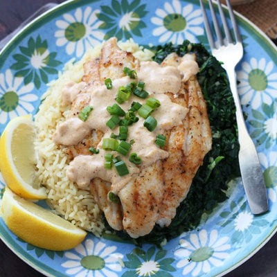 Sauteed Catfish Fillet with Creole Mustard Sauce