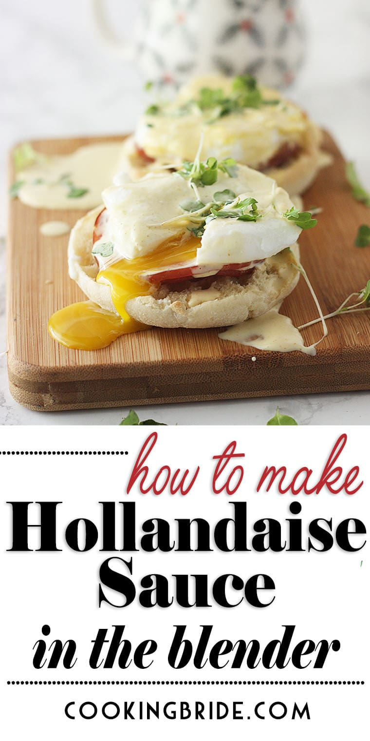 Homemade Hollandaise sauce doesn't have to be intimidating. Easy Hollandaise sauce in the blender is ready in minutes and requires no whisking!