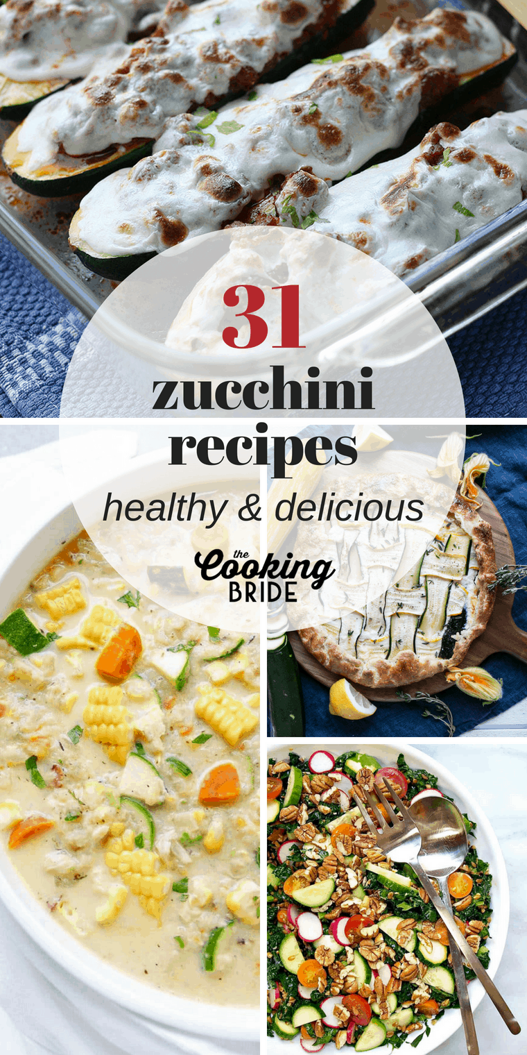 Add more heart healthy zucchini to your diet this summer with 31 of best zucchini recipes.