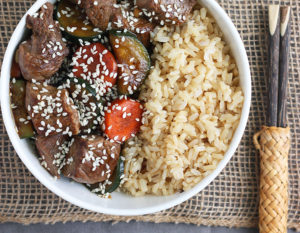Hibachi Steak and Vegetables [30 Minute Meal]