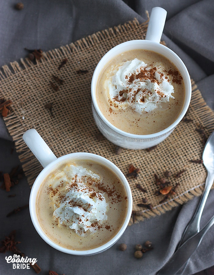 Pumpkin Pie Chai Latte