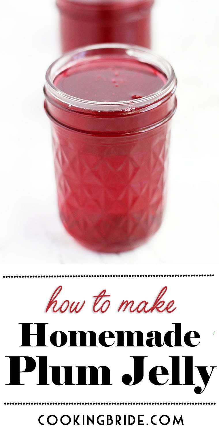 Easy homemade plum jelly is a great introduction to making homemade jelly. This simple recipe has only a few ingredients and is big on flavor.