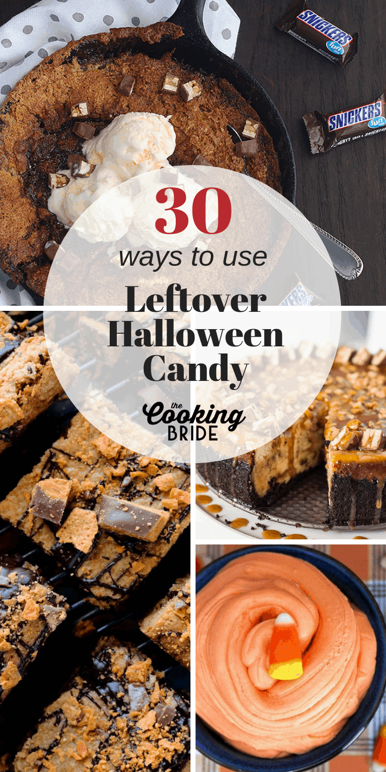 Searching for ways to get rid of your kid's leftover Halloween candy? These tasty recipes are a great way to get rid of those tempting sweet treats.