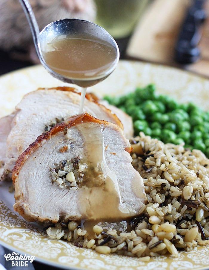 Wild Rice Stuffed Turkey Breast