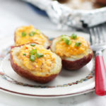 Hot Pimento Cheese Stuffed Potato Skins