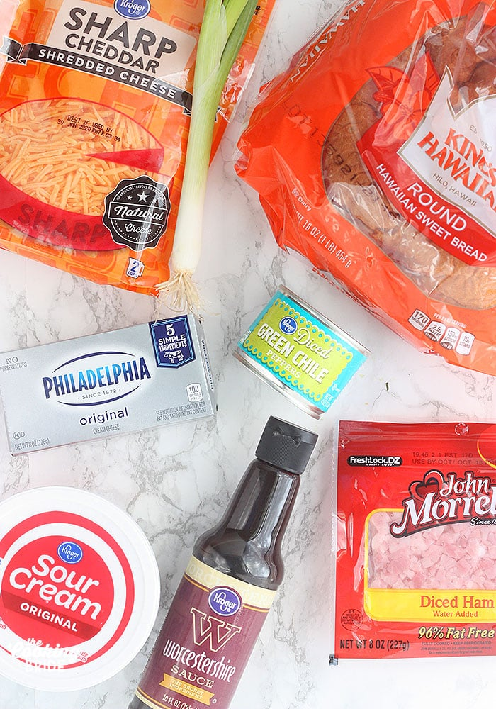 flat lay of ingredients for making Mississippi Sin Dip