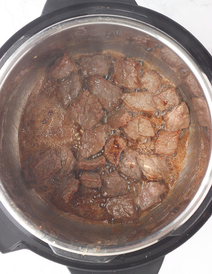browning the round steak