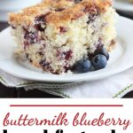 buttermilk and blueberry breakfast cake