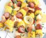 Shrimp Kabobs with Sausage, Potatoes and Corn